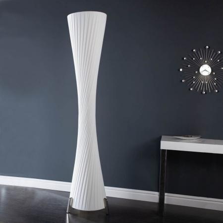 XXL Stehlampe LOOP Weiß Kegelform Rund 200cm Höhe - 3