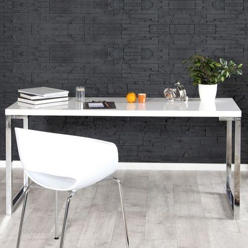 Schreibtisch OXFORD Weiß Hochglanz 160cm x 60cm - 1