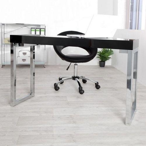 Schreibtisch PRINCETON Schwarz Hochglanz 120cm x 40cm - 2
