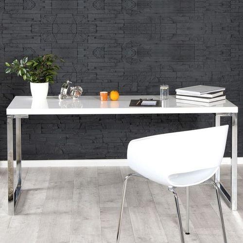 Schreibtisch OXFORD Weiß Hochglanz 140cm x 60cm - 1