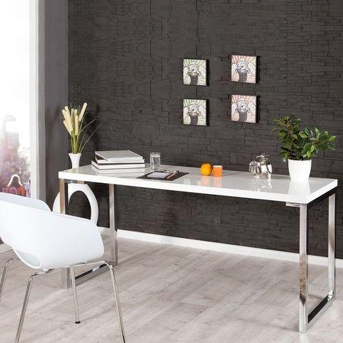 Schreibtisch OXFORD Weiß Hochglanz 140cm x 60cm - 2