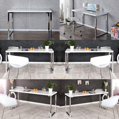Schreibtisch OXFORD Weiß Hochglanz 140cm x 60cm - 4