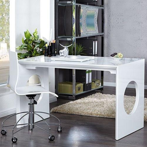 Schreibtisch KENSINGTON Weiß Hochglanz 120cm - 1