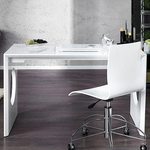 Schreibtisch KENSINGTON Weiß Hochglanz 120cm - 3