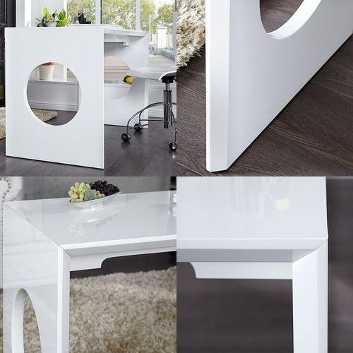 Schreibtisch KENSINGTON Weiß Hochglanz 120cm - 4
