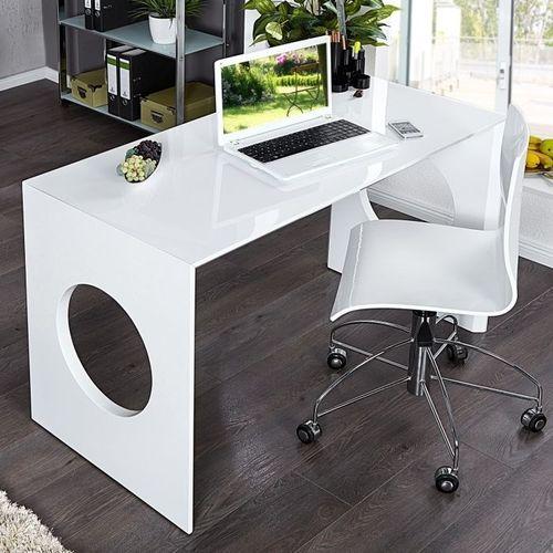 Schreibtisch KENSINGTON Weiß Hochglanz 120cm - 6