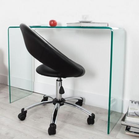 Schreibtisch MAYFAIR Glas transparent 100cm - 1