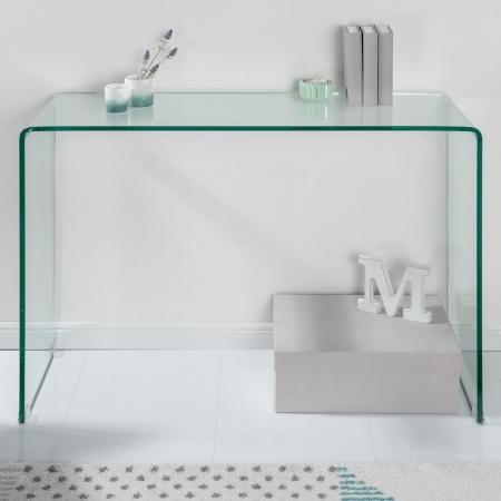 Schreibtisch MAYFAIR Glas transparent 100cm - 2