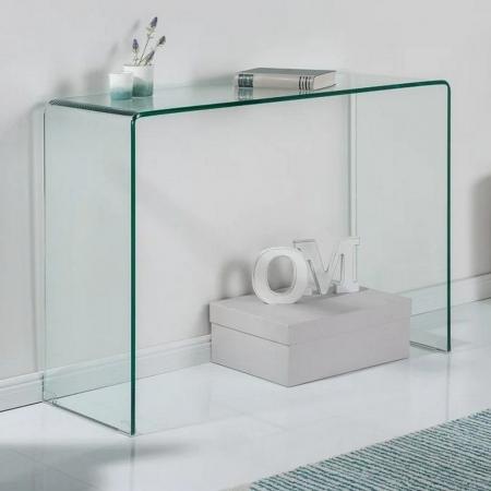 Schreibtisch MAYFAIR Glas transparent 100cm - 3