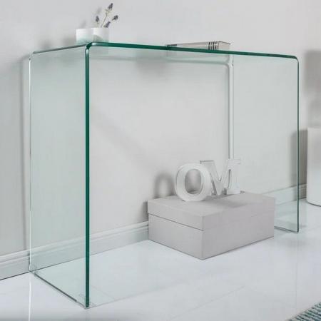 Schreibtisch MAYFAIR Glas transparent 100cm - 4