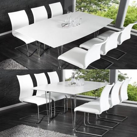 Esstisch PRAG Weiß Hochglanz 170-270cm ausziehbar - 2