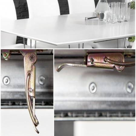 Esstisch PRAG Weiß Hochglanz 170-270cm ausziehbar - 3