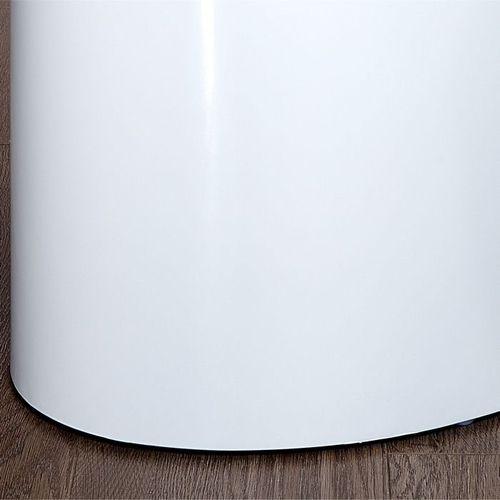 2er Set Beistelltische LOTUS Weiß Hochglanz Oval 50/40cm - 3
