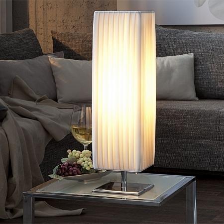 Tischlampe LOOP Weiß eckig 58cm Höhe - 1