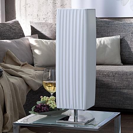 Tischlampe LOOP Weiß eckig 58cm Höhe - 2