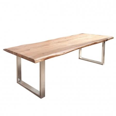 Esstisch AMBA Natur massiv Akazienholz 200cm & 60mm Tischplatte - 3