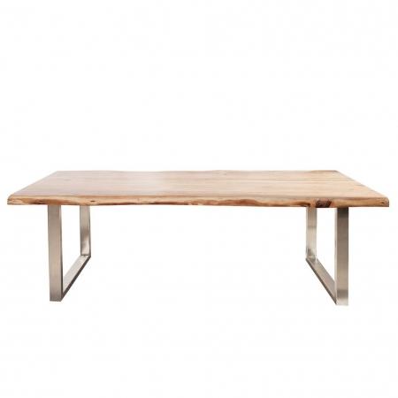 Esstisch AMBA Natur massiv Akazienholz 200cm & 60mm Tischplatte - 4