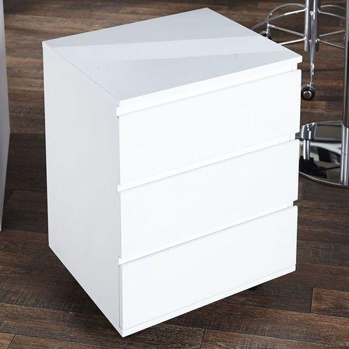 rollcontainer cardiff mit 3 schubladen wei hochglanz aus. Black Bedroom Furniture Sets. Home Design Ideas