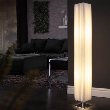 Stehlampe LOOP Weiß eckig 120cm Höhe - 1