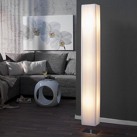 XL Stehlampe LOOP Weiß eckig 160cm Höhe - 1