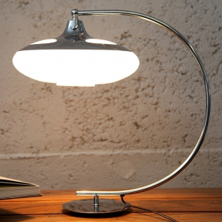 Tischlampe LATERNA Weiß Glas 50cm Höhe - 1