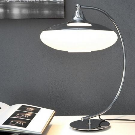 Tischlampe LATERNA Weiß Glas 50cm Höhe - 2