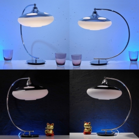 Tischlampe LATERNA Weiß Glas 50cm Höhe - 3