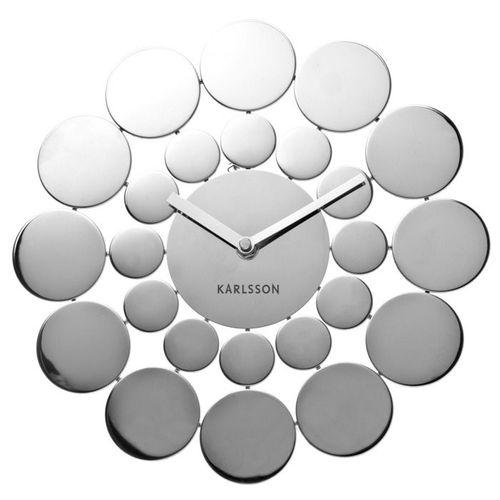 Wanduhr DISC aus poliertem Stahl 48cm - 4