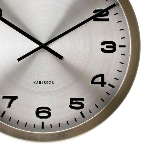 Retro Wanduhr MAXIMA Silber aus poliertem Stahl 50cm Ø - 2