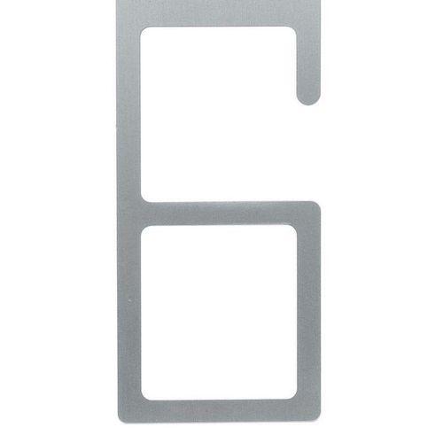 Wanduhr 6-12 Aluminium 50cm - 3