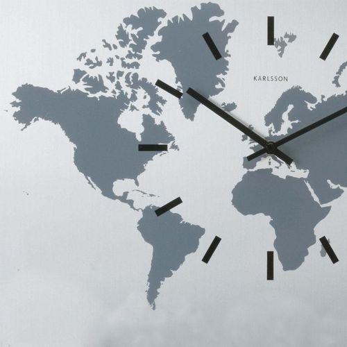6 Wanduhren WORLD TIME Aluminium 50cm - 1