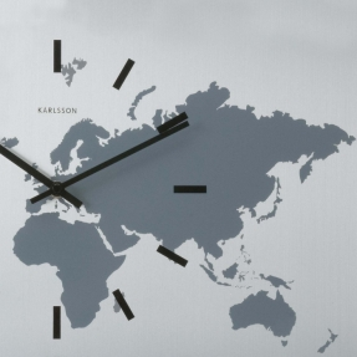 6 Wanduhren WORLD TIME Aluminium 50cm - 2
