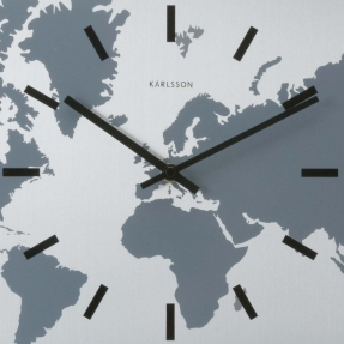 6 Wanduhren WORLD TIME Aluminium 50cm - 3