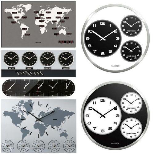 6 Wanduhren WORLD TIME Aluminium 50cm - 4