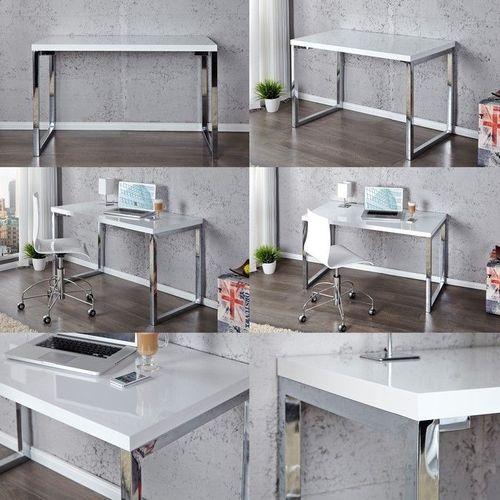 Schreibtisch OXFORD Weiß Hochglanz 120cm x 60cm - 3