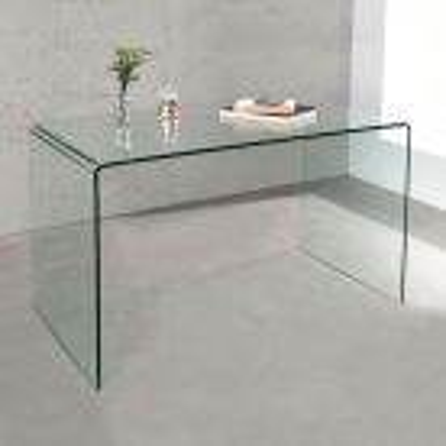 Schreibtisch MAYFAIR Glas transparent 120cm - 1