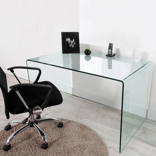 Schreibtisch MAYFAIR Glas transparent 120cm - 2