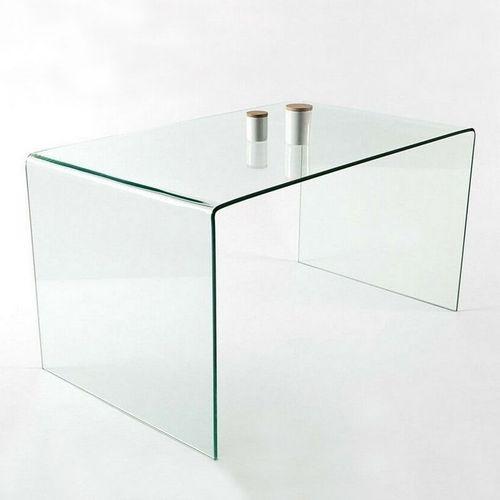 Schreibtisch MAYFAIR Glas transparent 120cm - 3
