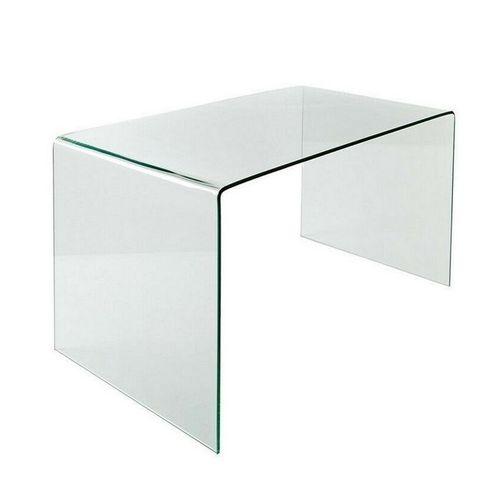 Schreibtisch MAYFAIR Glas transparent 120cm - 4