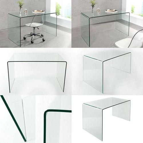Glas-Schreibtisch MAYFAIR transparent aus einem Guss 120cm x 70cm - 5
