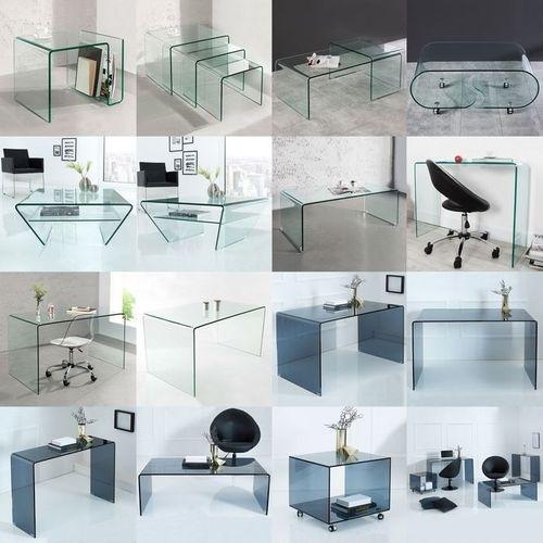 Glas-Schreibtisch MAYFAIR transparent aus einem Guss 120cm x 70cm - 6