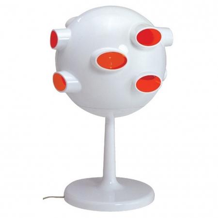 Tischlampe CAVE Weiß-Pink 42,5cm Höhe - 3