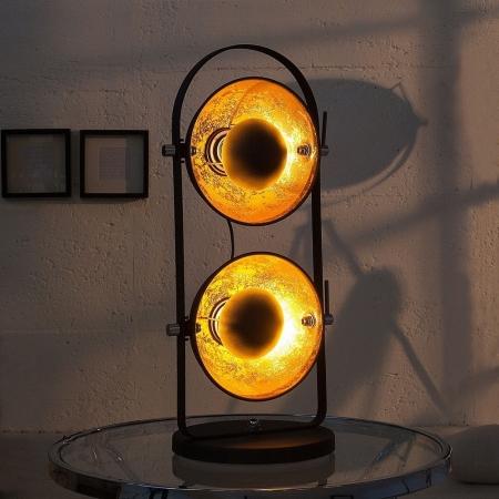 2er Tischlampe SPOT Schwarz-Gold 55m Höhe - 1