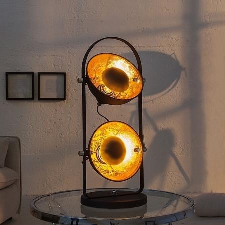 2er Tischlampe SPOT Schwarz-Gold 55m Höhe - 2