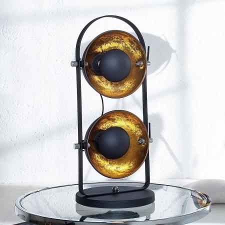 2er Tischlampe SPOT Schwarz-Gold 55m Höhe - 3