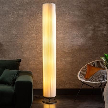 XXL Stehlampe LOOP Weiß Rund 200cm Höhe - 1