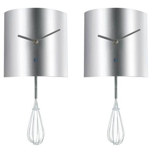 Wanduhr KITCHEN Schneebesen Pendulum Silber 34cm - 1