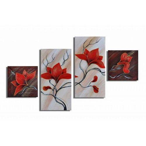 4 Leinwandbilder MAGNOLIA (1) 80 x 50cm Handgemalt - 1