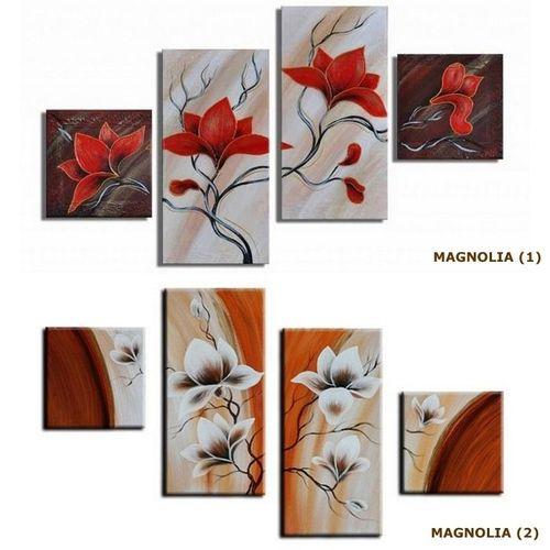 4 Leinwandbilder MAGNOLIA (1) 80 x 50cm Handgemalt - 3