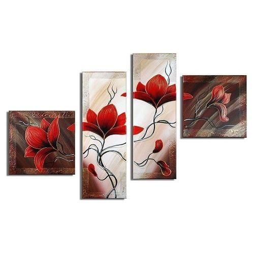 4 Leinwandbilder MAGNOLIA (2) 100 x 70cm Handgemalt - 1